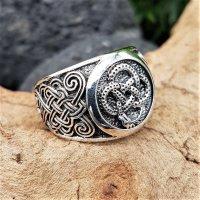 """Keltischer Knoten Ring """"GAEL"""" aus 925 Sterling Silber 64 (20,4) / 10,7 US"""