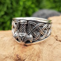 """Thors Hammer Ring """"SLEGGE"""" aus 925 Sterling Silber 70 (22,3) / 12,9 US"""