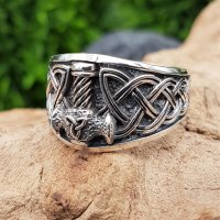 """Thors Hammer Ring """"SLEGGE"""" aus 925 Sterling Silber 72 (23,0) / 13,9 US"""