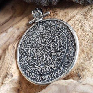 Diskos von Phaistos Schmuck Amulett aus 925 Sterling Silber