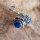 Keltische Ohrstecker mit blauem Stein aus 925er Sterling Silber