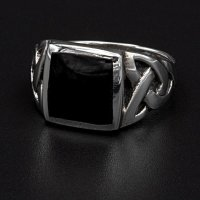 "Onyx Wikinger Ring ""Hels Dominance"" aus 925..."