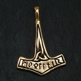 """Thors Hammer """"BAVARII"""" Schmuck Anhänger aus Bronze"""