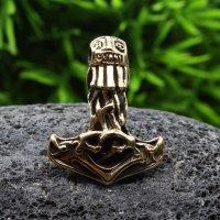"""Thors Hammer """"CHAMAVI"""" Schmuck Anhänger aus Bronze"""