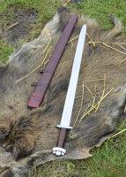 Frühes Wikingerschwert Godfred, mit Lederscheide