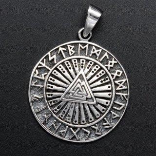 Valknut Schmuck Amulett - 925 Sterling Silber