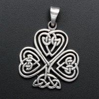 Keltisches Kleeblatt Anhänger - 925 Sterling Silber