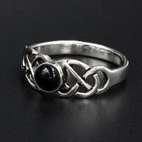 "Silberring Onyx ""Emma"" aus 925 Sterling Silber"