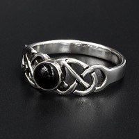 Silberring Onyx Emma aus 925 Sterling Silber 56 (17,8) /...