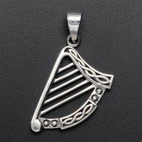 Keltische Harfe Schmuck Anhänger aus 925er Sterling...
