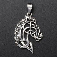 """""""Kopf des Sleipnir"""" mit keltischen Knoten aus..."""