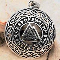 Silberanhänger keltischer Kreis mit Valknut...