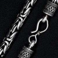 """Wikinger Halskette """"RAGNAR"""" 55 cm - Vintage Halsschmuck - Handgearbeitet aus 925 Sterling Silber - 148 Gramm"""