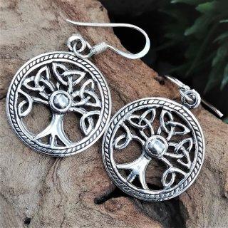"""Silberohrschmuck keltischer Lebensbaum """"ALSUNA"""" aus 925er Sterling Silber"""