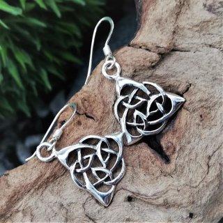 "Silberohrhänger keltischer Knoten ""ERIN"" aus 925er Sterling Silber"