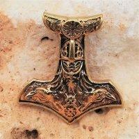 "Bronze Schmuckanhänger - Thors Hammer ""ARI"""