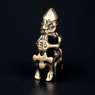 """Bronze Schmuckanhänger - Sitzende Thor mit seinem Hammer """"Mjölnir"""""""