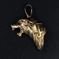 Bronze Schmuckanhänger - Fenriswolf