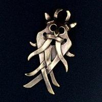 Bronze Schmuckanhänger - Wikinger Göttermaske