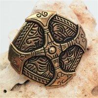 Bronze Brosche - Keltisches Schild