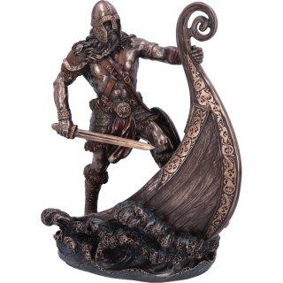 Halvor - Wikinger Figur auf Schiff - 24cm