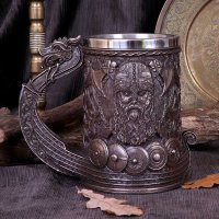 "Bronze ""Drakkar"" Viking Tankard"