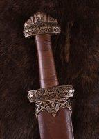 Wikingerschwert (Insel Eigg) mit Ledergriff, gehärtet