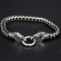 "Viking bracelet ""Audhumbla"" with clip ring made..."