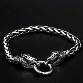 Viking bracelet Audhumla with clip ring made of stainless steel