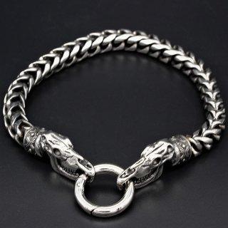 """Viking bracelet """"Sleipnir"""" with clip ring made of stainless steel"""