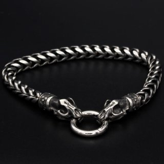"""Viking bracelet """"Garm"""" with clip ring made of stainless steel"""