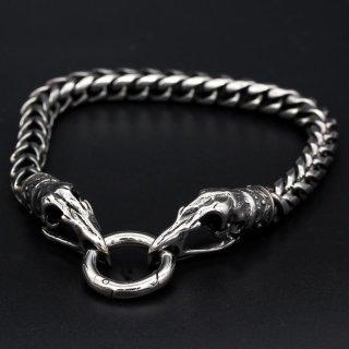 """Wikinger Armkette """"Huginn"""" mit Clipring aus Edelstahl"""