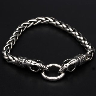 Viking bracelet Trjegul with clip ring made of stainless steel