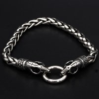 "Viking bracelet ""Trjegul"" with clip ring made..."