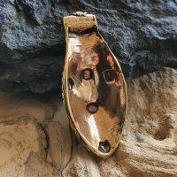 """Wikinger Schild Anhänger """"GORM"""" mit Spiralmuster aus Bronze"""