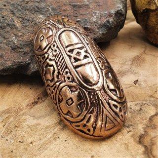 """Wikinger Schildkröten Fibel """"HULDA"""" aus Bronze"""