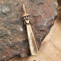 """Slavic deity """"SVANTOVIT"""" jewelry pendant made of bronze"""