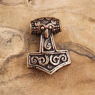 Viking Thors hammer beard pearl AKE made of bronze