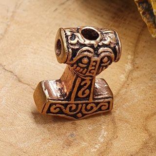 """Wikinger Thorshammer Bartperle """"ARVID"""" aus Bronze"""