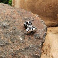 "Viking Thors hammer beard pearl ""ARVID"" made of 925 Sterling Silber"