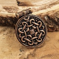 "Viking shield pendant ""ASGER"" with spiral..."