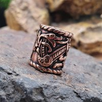 Bartperle verziert mit der Midgardsschlange - aus Bronze