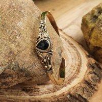"""Elben Armreif """"ARWEN"""" aus Bronze mit stein aus Onyx"""