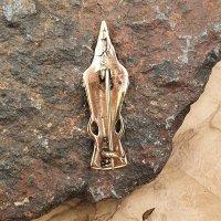 "Raven viking fibula ""MUNIN"" made of Bronze"