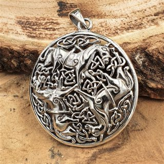 Celtic horse pendant made of 925 sterling silver