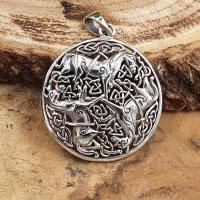 Keltisches Pferde Amulett Anhänger aus 925 Sterling...
