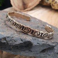 """Keltischer Knoten Armreif """"SHANNON"""" aus bronze"""