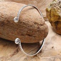 """Celtic spiral bracelet """"AMENA"""" made of 925 sterling silver"""
