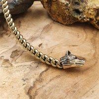 "Wolf Torq choker ""INGRID"" made of bronze"