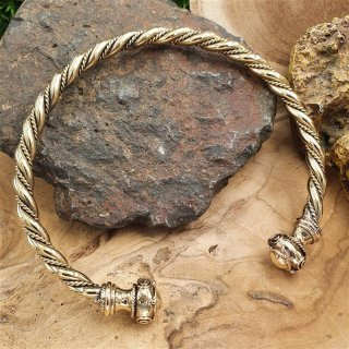 "Celtic Torq choker ""UAINE"" made of bronze"